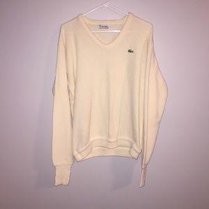 Vintage 80's Izod Lactose Cream Sweater